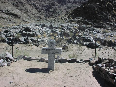 Christian grave with inscribed headstone