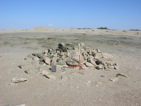 Typical traditional grave