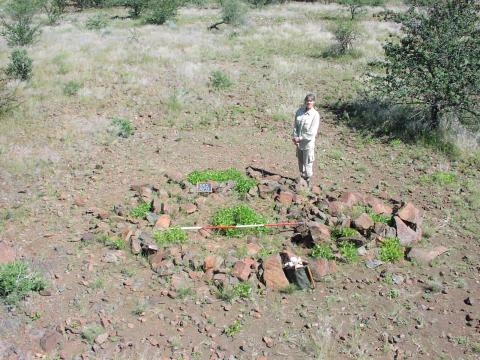 Foundation circle of dwelling
