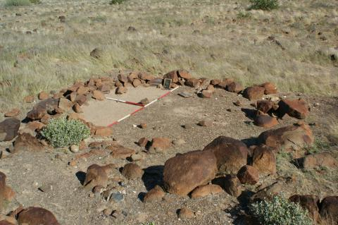 Partially excavated house circle